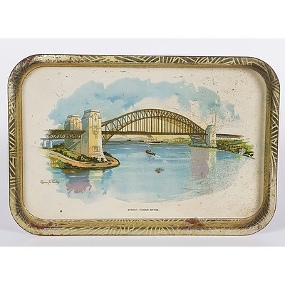 Willow Tray 'Sydney Harbour Bridge' By Henry W Wicks, Australian Willow Series No 1