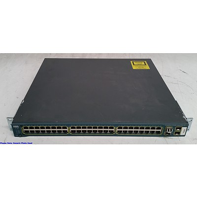 Cisco (WS-C3560G-48PS-S V05) Catalyst 3560G Series PoE-48 48-Port Gigabit Managed Switch - Lot of Two