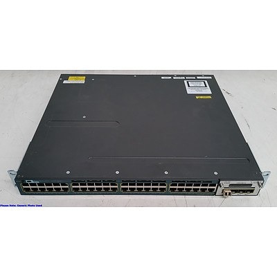 Cisco Catalyst (WS-C3560X-48P-S V05) 3560-X Series PoE+ 48-Port Gigabit Managed Switch