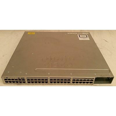 Cisco Catalyst (WS-C3850-48F-L V06) 3850-48-PoE+ 48-Port Gigabit Managed Switch