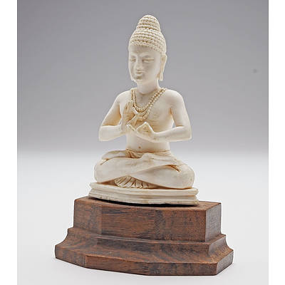 Indian Carved Ivory Hindu Diety
