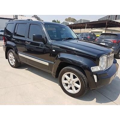 8/2010 Jeep Cherokee Limited (4x4) KK 4d Wagon Black 2.8L