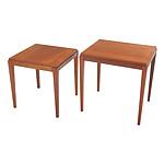 Nest of 2 Vintage Parker Teak Side Tables