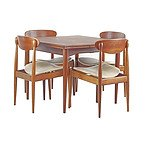 Parker 'Matchstick' Model 107 Teak and Tasmanian Blackwood Dining Suite, Circa 1960s