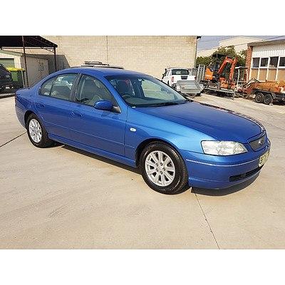 1/2004 Ford Falcon Futura BA 4d Sedan Blue 4.0L