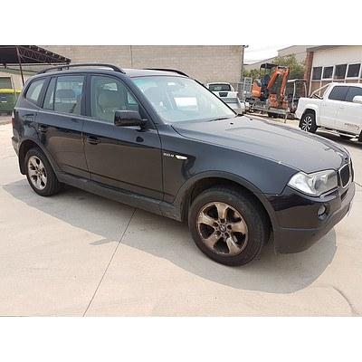 11/2008 Bmw X3 2.0d E83 MY07 4d Wagon Black 2.0L