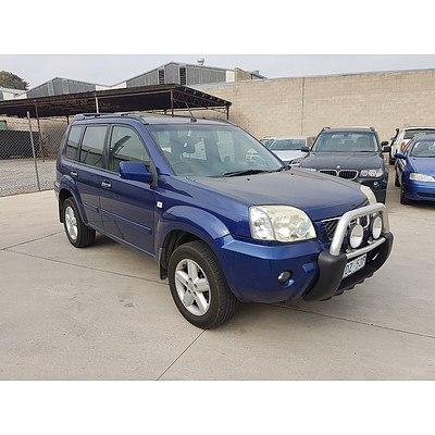 9/2005 Nissan X-trail Ti (4x4) T30 4d Wagon Blue 2.5L