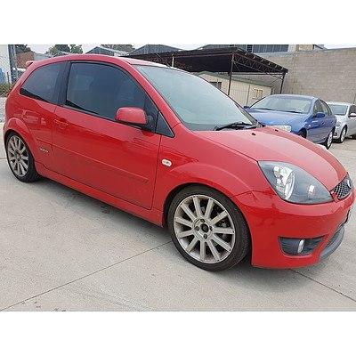 6/2007 Ford Fiesta XR4 WQ 3d Hatchback Red 2.0L