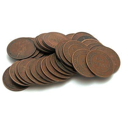 Australia: George V 1919 Pennies (X34)