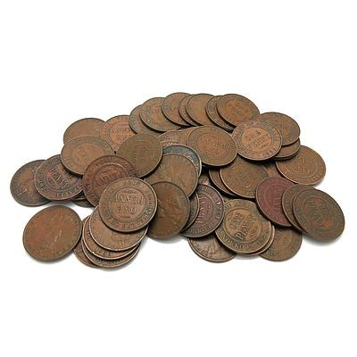 Australia: George V (1911-1936) Pennies (X50)