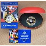 Australia 2004 $5 Proof Coin Afl Football