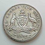 Australia: Sterling Silver Florin 1914H Very Rare!
