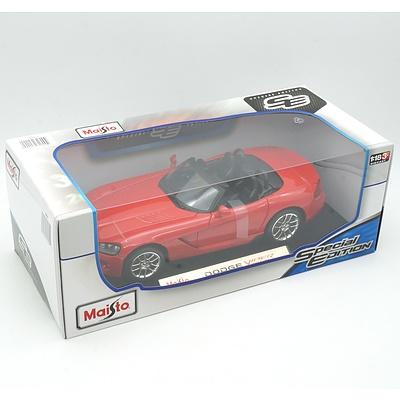 Brand New Maisto Special Edition 1:18 Diecast Dodge Viper Red