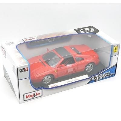 Brand New Maisto Special Edition 1:18 Diecast Ferrari 348ts