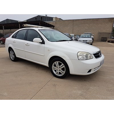 6/2006 Holden Viva  JF 4d Sedan White 1.8L