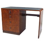 Fabulous Art Deco Walnut Veneer Desk of Small Proportions Circa 1930s