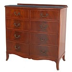 Australian Cedar Bowfront Chest of Drawers, Mid 20th Century