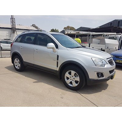 2/2012 Holden Captiva 5 (fwd) CG SERIES II 4d Wagon Silver 2.4L