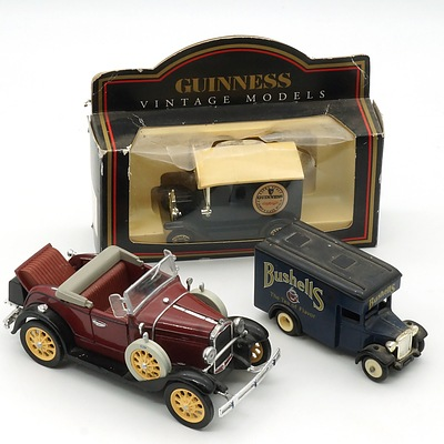 Three Model Cars, Inclosing Days Gone By and Vintage Models