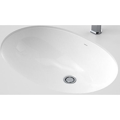 Caroma Caravelle 600 Under Counter Vitreous China Vanity Basin -  659405W - Brand New - RRP $480.00
