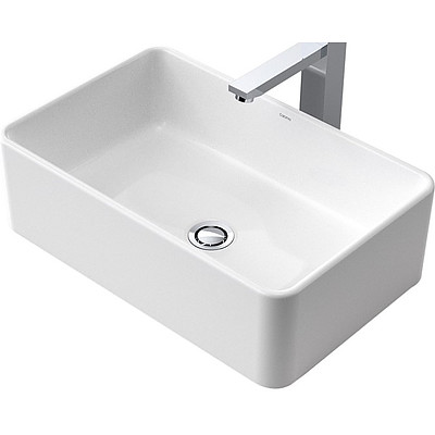 Caroma Cube Ceramic 500mm Above Counter Basin - 683400W - RRP $470.00 - Brand New
