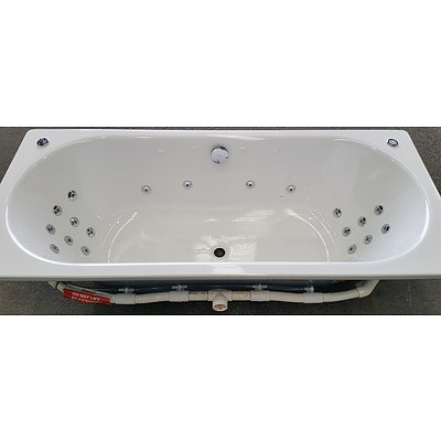 Kaldewei Classic Duo Rectangular Bath Tub With Jet Multi Point Spa System -  New - RRP $7050.00