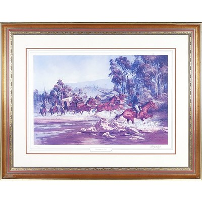 Darcy Doyle (1932-2001) Escorting the Gold, Limited Edition Offset Print 1145/1500