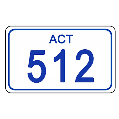 ACT Number Plate 512