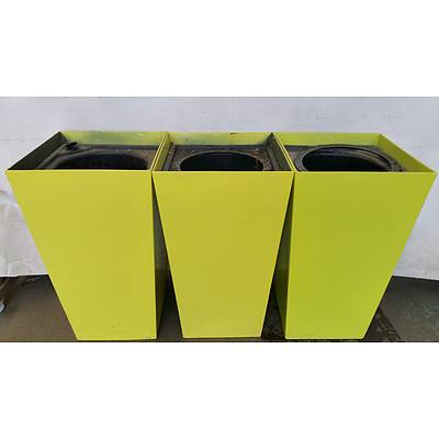 Indoor Planter Boxes - Lot of Three