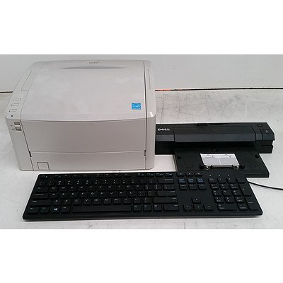 Bulk Lot of Assorted IT & Office Equipment - Document Scanners, Keyboards & Assorted Cables