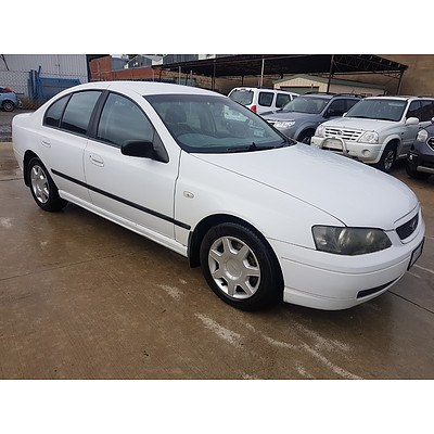4/2003 Ford Falcon XT BA 4d Sedan White 4.0L