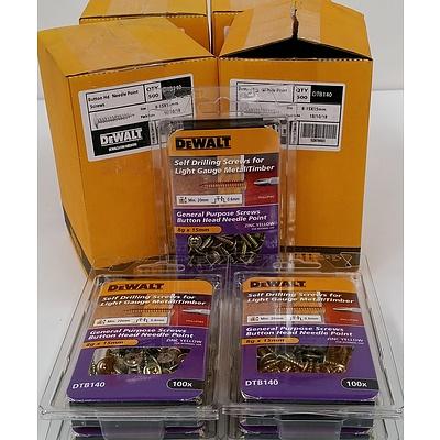 DeWalt DTB140 Button Head Screws - Brand New - Lot of 2000
