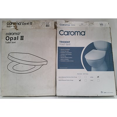 Caroma Opal II and Trident Toilet Seats Lot Of Three - Brand New - RRP $700.00