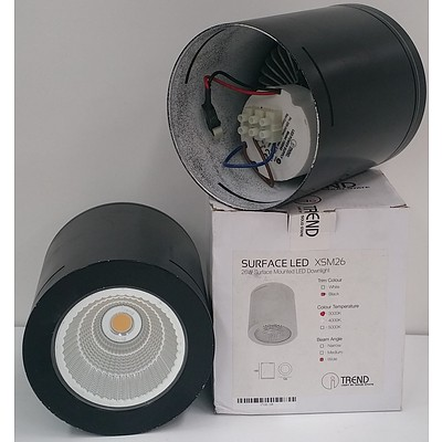Trend XSM26 Surface Mounted LED Downlights - Lot of Two