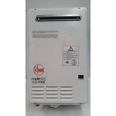 Rheem Metro 875E26NF Continuous Flow Natural Gas Water Heater