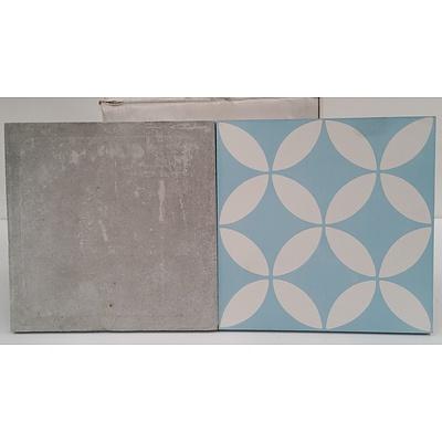 Patterned Concrete Tiles - Lot of 10