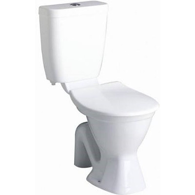 Novelli Centino N250W Wall Faced S Tap Toilet Pan With Plastic Seat and Cistern  - Brand New - RRP $350.00
