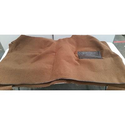 HQ/HZ Holden Sedan Front and Rear Brown Loop Car Carpets