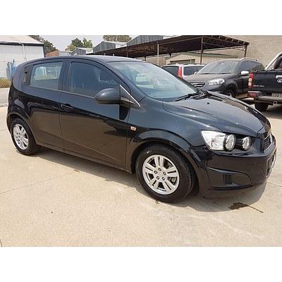 1/2013 Holden Barina CD TM MY13 5d Hatchback Black 1.6L