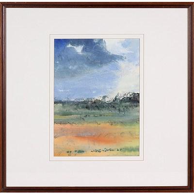 Loretta Ravera, Countryside in Yellow 1992, Watercolour