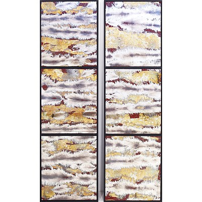 Pair of Triptych Hanging Art Mirrors