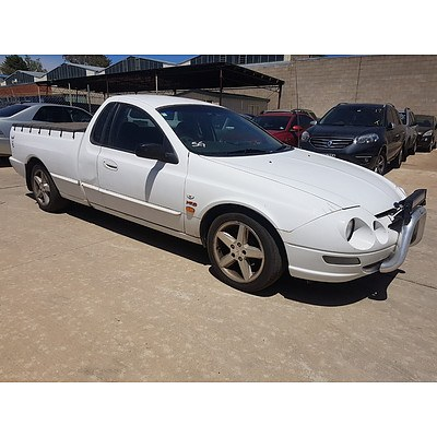 7/1999 Ford Falcon XR6 AU Utility White 4.0L