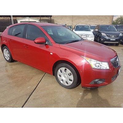 3/2012 Holden Cruze CD JH MY12 5d Hatchback Red 1.8L