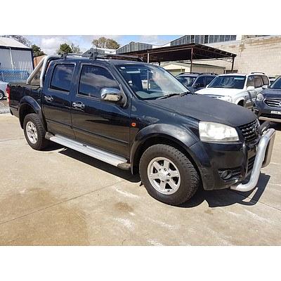 1/2012 Great Wall V200 (4x4) K2 Dual Cab Utility Black 2.0L
