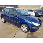 7/2004 Peugeot 206 XT  5d Hatchback Blue 1.6L