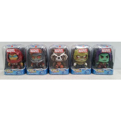5 Marvel Guardians of the Galaxy Mighty Muggs Collectible Figures