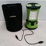 Adventure Ridge Rechargeable Camping Lantern with Two Built in Torches