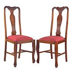 Six Various Tasmanian Blackwood Dining Chairs, Circa 1920s