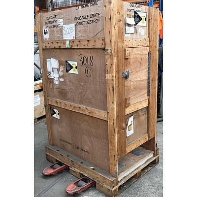 Rectangular Wooden Shipping Crate