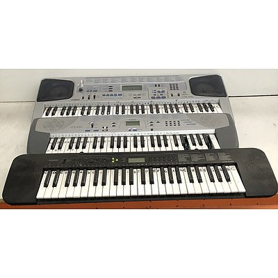 Bulk Lot of Assorted Casio Keyboards for Spare Parts